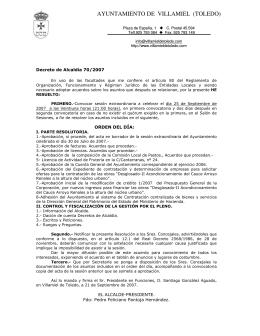 25 de Septiembre - Ayuntamiento de Villamiel de Toledo