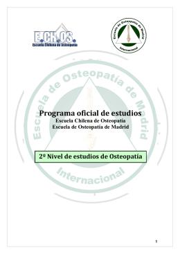 Detalle del 2° Nivel - Escuela Chilena de Osteopatía