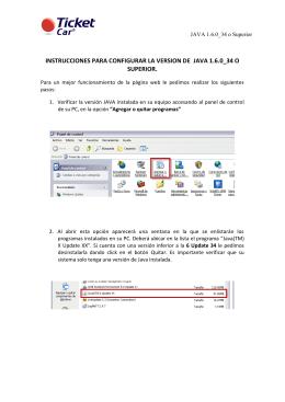 instrucciones para configurar la version de java 1.6.0_34