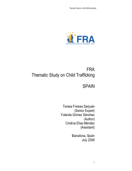 FRA Thematic Study on Child Trafficking SPAIN