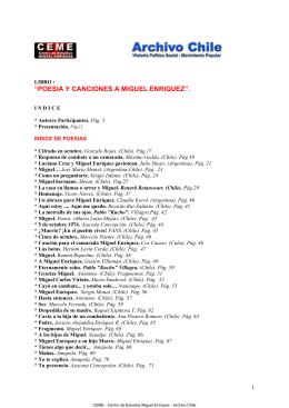 Poesía y Canciones a Miguel Enríquez E.