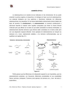 Tema 9 Isomería öptica 2009 - Facultad de Bioquímica,Química y