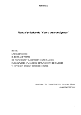 """Manual práctico de """"Como crear imágenes"""""""