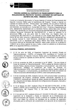 TERCERA ADENDA AL CONTRATO DE FINANCIAMIENTO