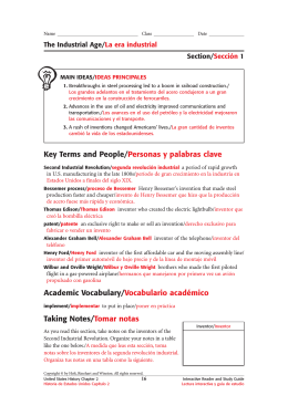 Key Terms and People/Personas y palabras clave
