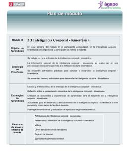 3.3 Inteligencia Corporal - Kinestésica.