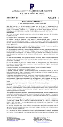 camara argentina de la propiedad horizontal.. y actividades