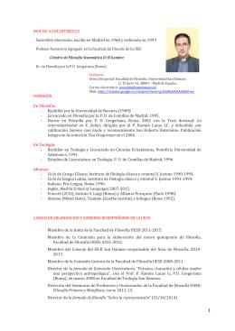 Curriculum - San Dámaso