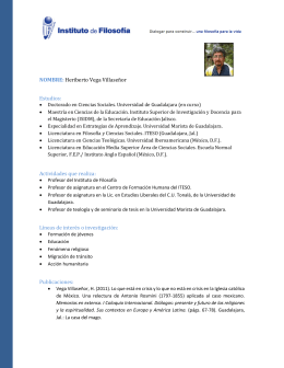 NOMBRE: Heriberto Vega Villaseñor Estudios: Actividades que