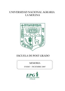 2007 - Universidad Nacional Agraria La Molina