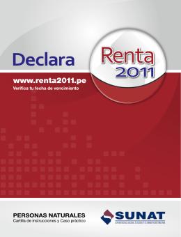 Renta Anual 2011 (Personas Naturales)
