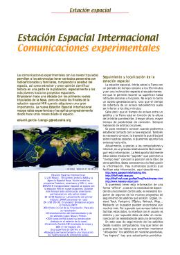Estación Espacial Internacional Comunicaciones
