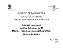 Auxiliar Animador 2D - Colegio de Bachilleres