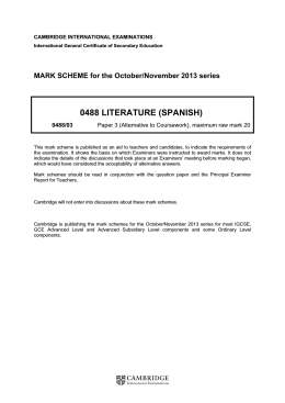 0488 literature (spanish) - Cambridge International Examinations