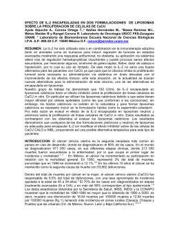 efecto de il-2 encapsuladas en dos formulaciones de liposomas