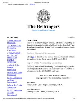 The Bellringers - Serra International