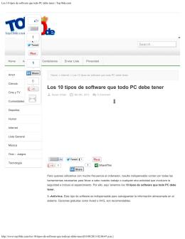 Los 10 tipos de software que todo PC debe tener | Top10de.com