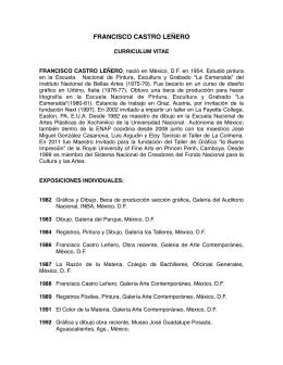 Curriculum Completo Francisco Castro