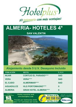 ALMERIA- HOTELES 4*