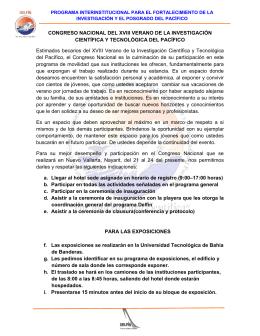 CONGRESO NACIONAL DEL XVIII VERANO DE