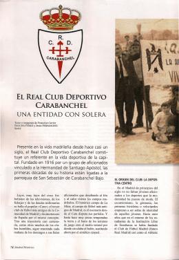 El Real Club Deportivo Carabanchel, una entidad