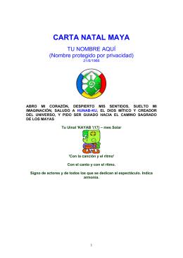 CARTA NATAL MAYA - Horoscopo Chino 2014