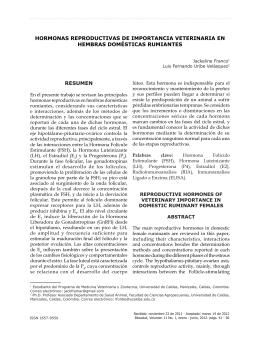 HORMONAS REPRODUCTIVAS DE IMPORTANCIA VETERINARIA