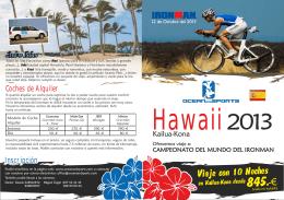 Díptico Hawaii Español 2013 Print