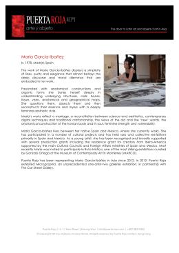 María García-Ibañez - Puerta Roja | arte y objeto
