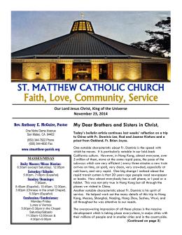 Faith, Love, Community, Service