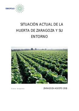 situación actual de la huerta de zaragoza y su entorno