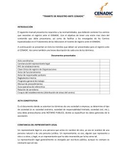 """""""TRAMITE DE REGISTRO ANTE CENADIC"""""""