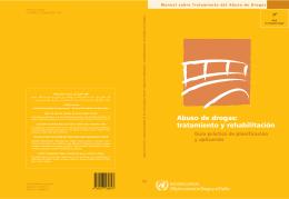 Abuso de drogas: tratamiento y rehabilitación
