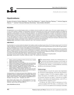 Hipotiroidismo Artículo de revisión - Colegio de Medicina Interna de