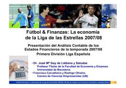 0. Fútbol & Finanzas PRESENTACIÓN 19 MAYO 2009 IQS