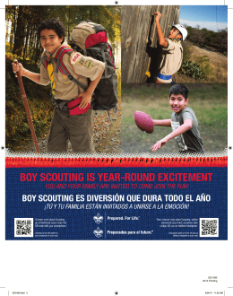 boy scouting is year-round excitement