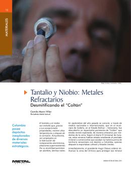 Materiales Tantalio y Niobio: Metales
