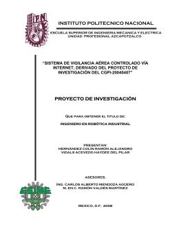 instituto politecnico nacional proyecto de investigación