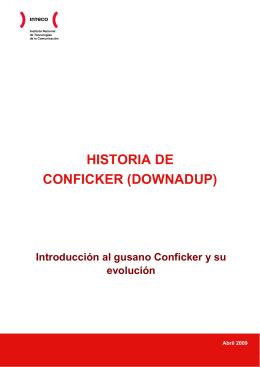 HISTORIA DE CONFICKER (DOWNADUP)