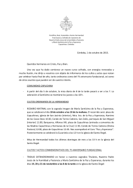 Carta Sept 2015 - Hermandad de La Paz