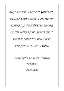 Reglas Hdad. Ntro. Padre Jesús Nazareno, Santa Cruz