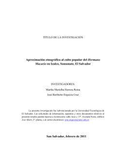 Aproximación etnográfica al culto popular del Hermano Macario en