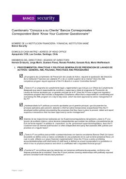 KyC Cuestionario Fecha de publicación 26/11/2013