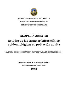 ALOPECIA AREATA: Estudio de las características clínico