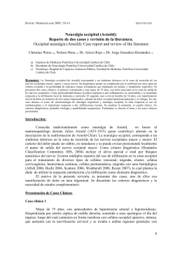 Neuralgia occipital (Arnold): Reporte de dos casos y