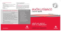 Caridad 2015 - Guión Litúrgico - Cáritas Diocesana de Zaragoza