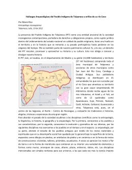 Hallazgos Arqueológicos del Pueblo Indígena de Telpaneca a