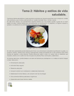 Tema 2: Hábitos y estilos de vida saludable.