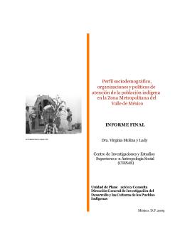 Perfil sociodemográfico, organizaciones y políticas de atención de