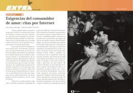 Exigencias del consumidor de amor: citas por Internet